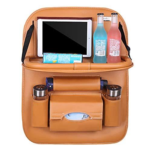Yuui Organizador universal para asiento trasero de coche, de piel sintética