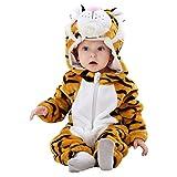 Carnival vestido de tigre de peluche suave - guardapolvos con el arnés completo - Tamaño 0-6 meses buena idea vestir a los niños