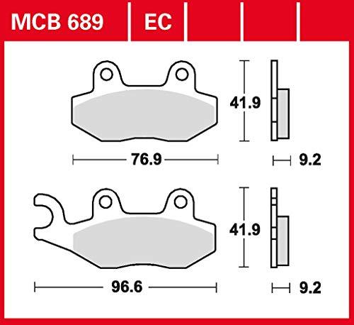 Bremsbelag TRW organisch für Roller, Scooter, Offroad ZZ 125 Supermoto 4T QM125GY-2B 10-13 vorne