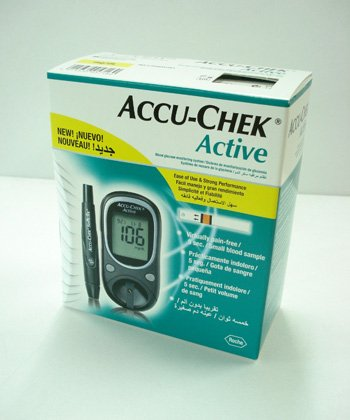 Accu Chek Active Blood Glucose Meter Monitor The meter measures in mg/dl