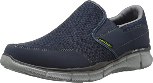 Skechers Herren Ultra Flex-salutations-51361 Low Top, Blau Bleu Nvgy, 43 EU