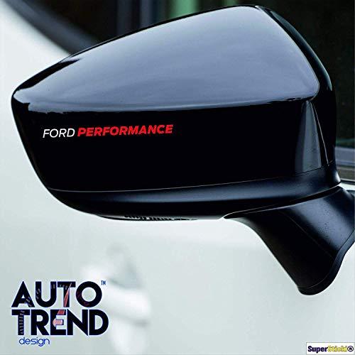 SUPERSTICKI 2X kompatibel für Ford Performance Außenspiegel Aufkleber Sticker Decal aus Hochleistungsfolie Autoaufkleber Tuningaufkleber für alle glatten Flächen UV und Waschanlagenfest Tuning P