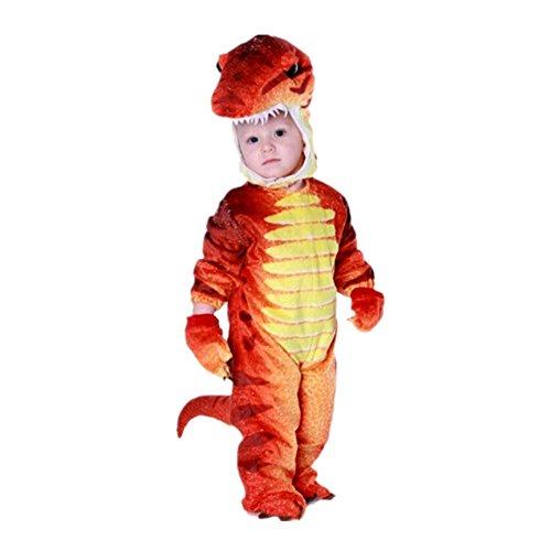 Disfraces de Dinosaurio Cosplay Pijama Dinosaurio para Fiesta Halloween Rojo 4-6 Anos