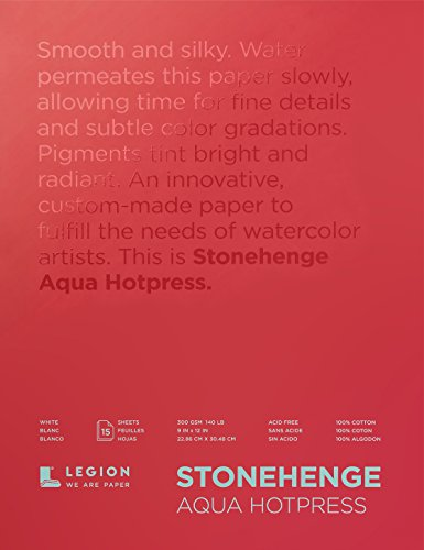 Legion Paper Watercolor Block, 9x12, Multicolor