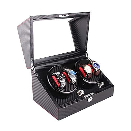 N\C Cajas giratorias para Relojes, Enrollador de Reloj automático, Caja, 5 Modos de rotación y 4 Posiciones, Moto silenciosa con AC AdaptoPowe LKWK