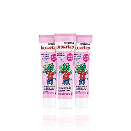 Licor del Polo - Dentífrico Junior 1-6 años - 3uds de 50ml (150ml) - Protege y fortalece los dientes de leche