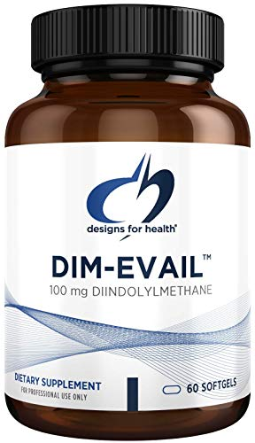 Designs for Health DIM-Evail - 100mg Diindolylmethane Supplement Without Soy with Evail Technology to Promote Absorption - May Help Support Healthy Estrogen Metabolism (60 Softgels)