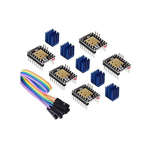 5PCS V3.0 Stepper Motor Driver 3D Printer Parts TMC2130 TMC2209 TMC5160 Fit For SKR V1.3 V1.4 MKS GEN Ramps 1.4 (Color : UART mode) (Color : Uart Mode)