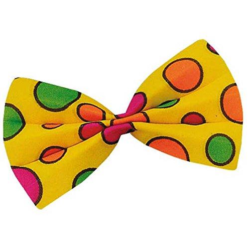Aptafêtes - AC1739/JAUNE - Noeud papillon clown 13 x 8.5 cm jaune - 13.5 x 8.5 cm