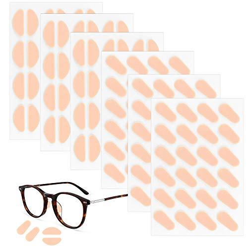 TANCUDER 72 Paare Rutschfeste Brillen Nasenpads Hautfarbe Anti-Rutsch-Brille Nasenpads Selbstklebende Brillen Nasenpads Schaum Nasenpads für Sonnenbrillen, Brillen (Tropfenförmig, D-Formig)