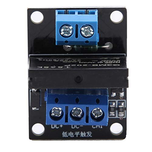 Huairdum Solid State Relay, 1 Channel Solid State Relay Module with Fuse Low Level Trigger 2A(#2)
