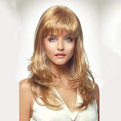 Cheveux longs bouclés blonds, 60cm, cheveux artificiels, soie haute température, perruque synthétique pour femme à porter tous les jours
