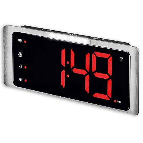 Amplicomms Big Display Radiogestuurde digitale extra luide wekker (In aanmerking voor btw-vrijstelling in het Verenigd Koninkrijk)