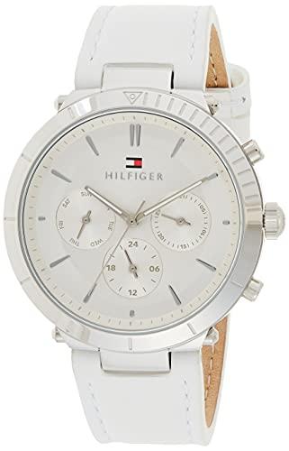 Tommy Hilfiger Damen Analog Quarz Uhr mit Leder Armband 1782352