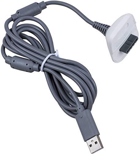 SODIAL(R) Cable Cargador Adaptador USB para xbox 360 PC DC2.7V/300mA Negro