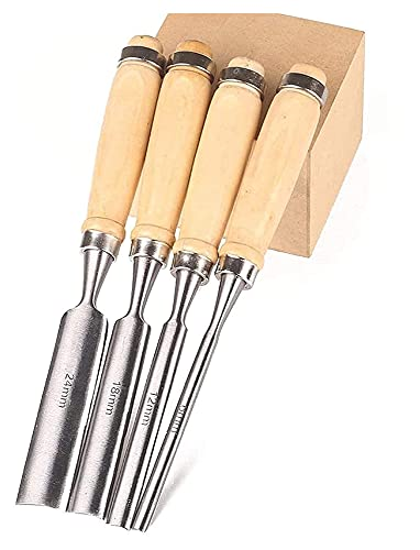 Outil à la main Structure en bois Gouge Ensemble de gouge, Morceau à bois ciseaux à la main compacte Couteau de sculpture en bois Couteau semi-circulaire pour les outils de passe-temps et professionne