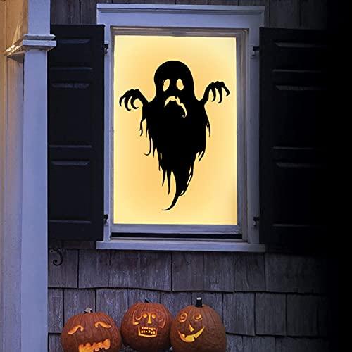 Calcomanía horrible Halloween fantasma pared ventana puerta piso etiqueta engomada Halloween fiesta decoración casa embrujada