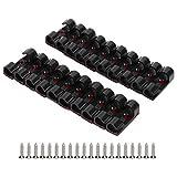 Organizador Del Cable, Autoadhesivo 3x1.1x1cm Clip De Cable Soporte De Cable Durable Para Fijar El Cable(negro)