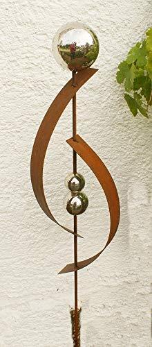 Gartendeko Rost Stecker Lieblingsstab 120 cm Stab Stele Frühjahr
