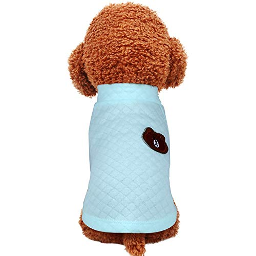 YABAISHI wandlamp donker katoen ronde hals shirt hond jurk compagnia dog T-shirt, M, Zoals getoond