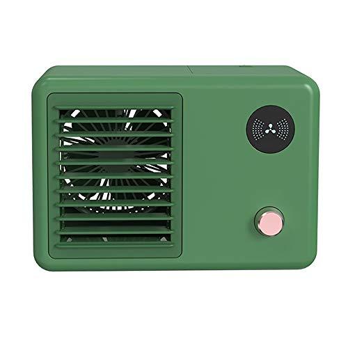 Aire Personal Y Portátil Aires Acondicionados Móviles Mini Enfriador De Aire Aire Acondicionado Portátil Humidificador Ventilador para El Hogar Oficina (Color : Green)