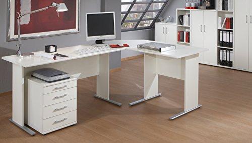 VCM Schreibtisch Bürotisch Computertisch PC Laptop Tisch Laptoptisch Büro Omegos Breite 90 cm, Weiß