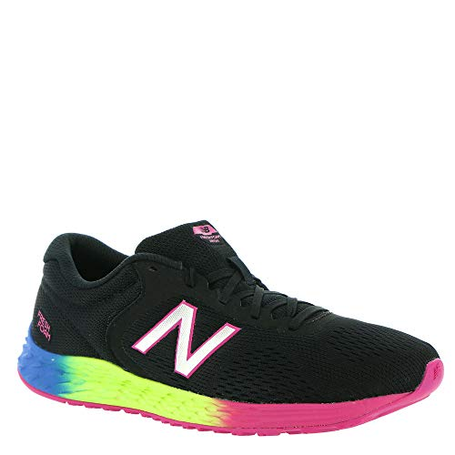 New Balance Kid's Fresh Foam Arishi V2 Lace-Up Running Shoe, Black/Carnival, 1 M US Little Kid