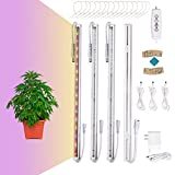 LED Grow Lights Strips Full Spectrum for Indoor Plants with Auto ON & Off Timer,120 LEDs / 6 Dimmable Levels,660+460nm/4100-6400K Indoor Plant Lights with Magnet for House Garden Hydroponics Succulent