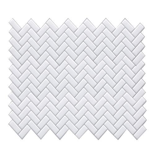 HyFanStr 3D Mosaik Fliesenaufkleber für Badezimmer, Abziehen und Aufkleben Fliesenrückwand für Küche, Wandfliesen Splashback 4 Stück a