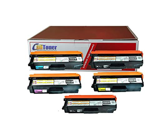 Calitoner Compatible Laser Toner Cartridges Replacement Brother TN336BK TN336C TN336M TN336Y Set Use for Brother MFC-L8600CDW, MFC-L8850CDW, HL-L8250CDN, HL-L8350CDW, HL-L8350CDWT Printer- (5 Pack)