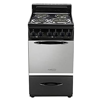 Premium 4 Elements Free Standing Electric Range 20'', Black