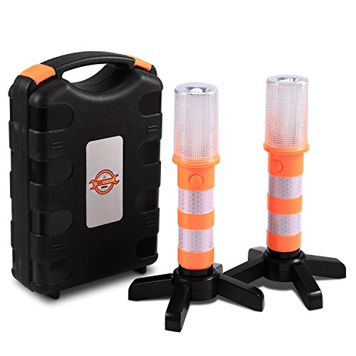 Sailnovo LED Warnleuchte 2PCS Pack Auto Warnblinkleuchte Warnlicht-Kits zur Verkehrswarnung Auto-Notlichter Sicherheitswarnlichter Blitzlichter