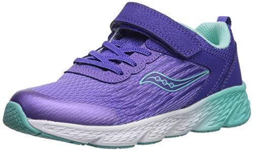 Saucony Girl's Wind A/C Sneaker, Purple, 2 M US