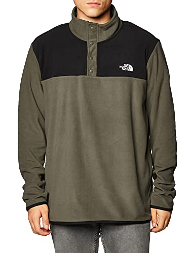 THE NORTH FACE TKA Glacier Snap-Neck Pull Polaire Taupe Green/TNF Black
