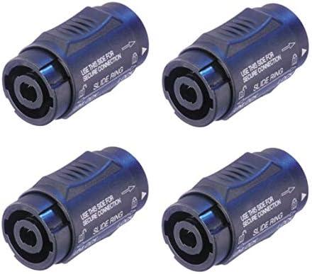 4 Pack Neutrik NL4MMX Speakon Locking 2 and 4 Pole Coupler Female to Female product image