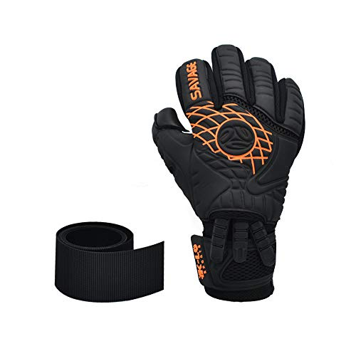 K-LO Sports Savage Blackout Goalie Glove (Black and Red, 8)