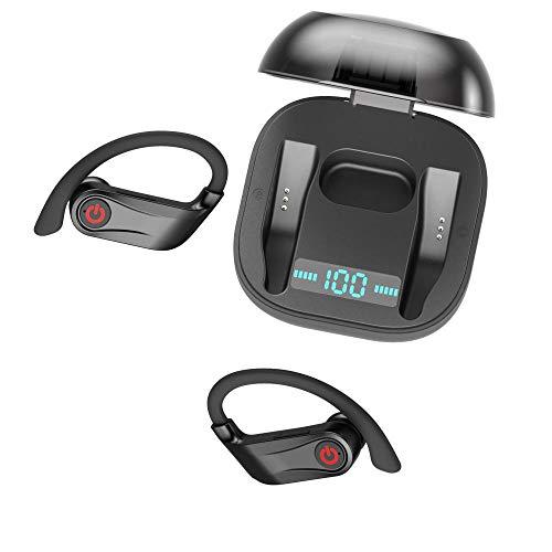 Bluetooth hoofdtelefoon, draadloze koptelefoon, intelligente ruisonderdrukking, draadloze hoofdtelefoon met microfoon in-ear hoofdtelefoon, draagbare oplaadtas voor Android en iOS, geschikt voor sport, hardlopen en compatibel met alle smartphones