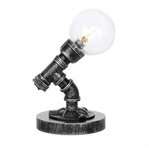 Rustiek bedlampje, industrieel studie bureaulamp studio woonhuis leeslamp restaurant café verlichtingslichaam glaswasc