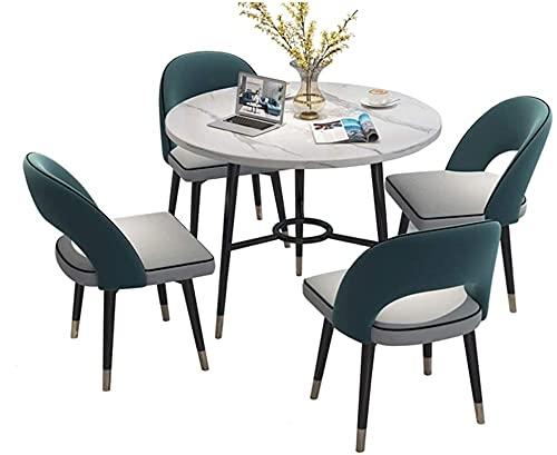 Conjunto de mesa de comedor para cocina o decoraci Tienda de mesa y silla Combinación de negocios Recepción Conferencia Tienda de negociación COMEDOR HOMBRESA Mesa de comida Ocio 80 cm Mesa redonda