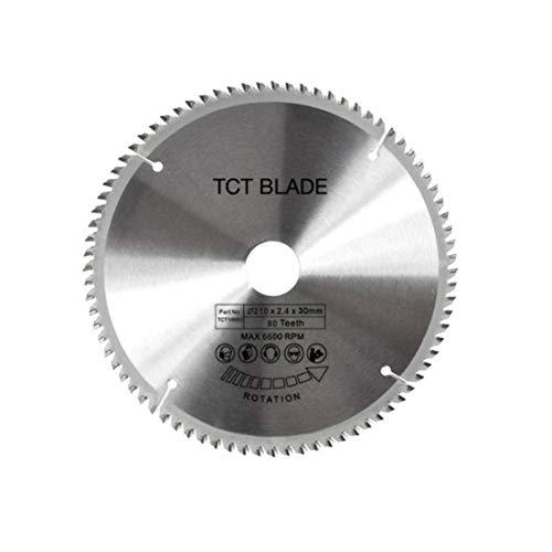 Pgige Discos de Rueda de Hoja de Sierra Circular para carpintería de aleación TCT Multifuncional de 80 Dientes (Plata)