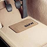 BMW Carpeted Floor Mats with BMW Lettering / Beige. 2007-2012 328xi & 335xi Coupes.