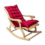 Cuscino Imbottito per Poltrona Sdraio Relax 120cm in Cotone Antiscivolo Cuscino Imbottito per Sedia a Sdraio Dondolo per Interno ed Esterno da Giardino (120cm, rosso)