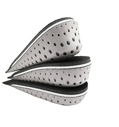 One Pair Hard Breathable Memory Foam Height Increase Insole Invisible Increased Heel Lifting Inserts Shoe Lifts Shoe Pads Elevator Insoles for Men Women (3cm height)