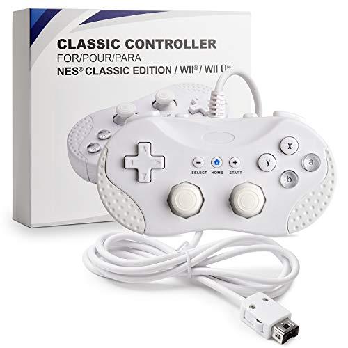 suily Klassischer Controller Retro Gaming Controller Wired Gamepad Joystick für die Wii/WII U/NES Classic Edition (NES Mini) Konsole (Weiß)