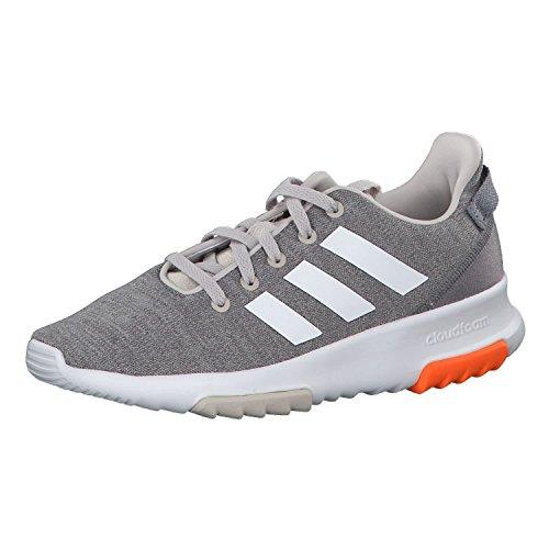 adidas Unisex Cloudfoam Racer TR Sneaker, Beige (Chalk Pearl/Footwear White/Hi-Res Orange), 36 EU