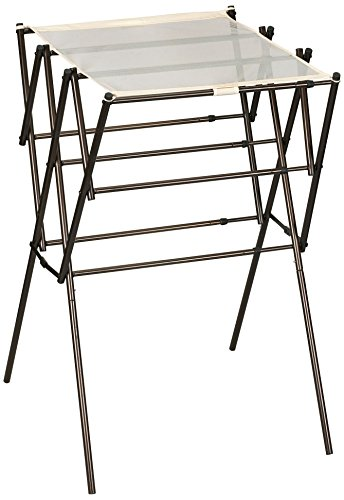 Household Essentials 5175 Collapsible Expandable Metal Clothes Drying Rack Antique Bronze