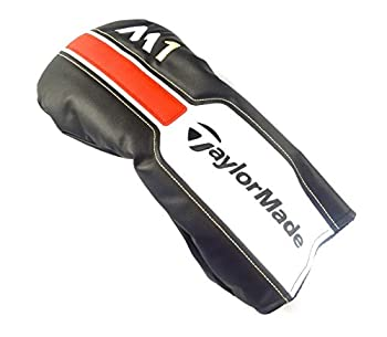 TaylorMade New M1 Black/White/Red Leather Driver Headcover