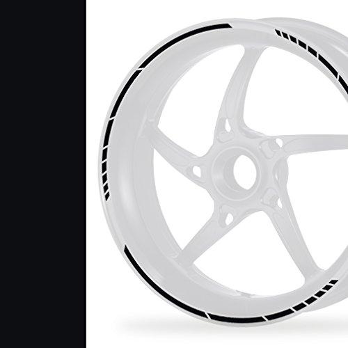 NEW! Felgenrandaufkleber GP Style Auto Motorrad Felgenaufkleber (schwarz)