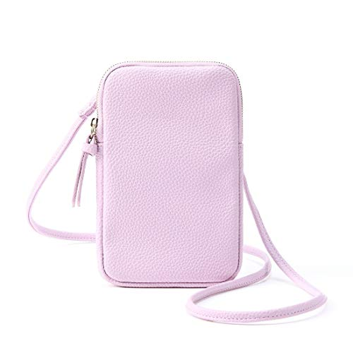 Schultertasche Ledertasche Mini-Umhängetasche Handtasche, klein, Taschen für Mobiltelefon, Portmonee, Karten und Reisepass, Passport Holder