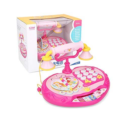 Juguete de teléfono para niños con botones únicos y melodías musicales, juguete educativo temprano para niños mayores de 4 años